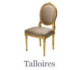 The Talloires chair is also inspired by the Louis XVI style